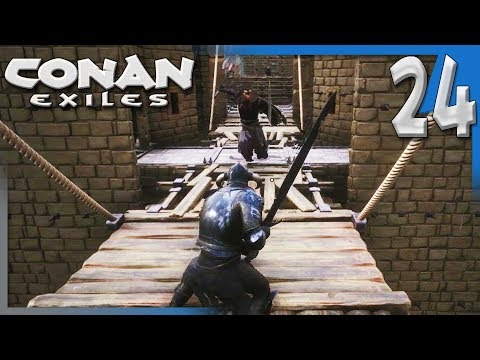 ATTACKED!! & MAKING A MAP ROOM! | Conan Exiles Multiplayer Gameplay S4E24