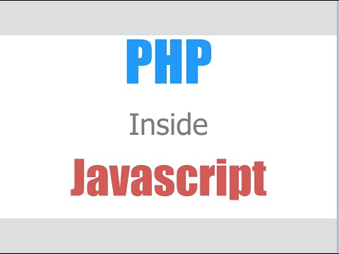 How to put php inside javascript?