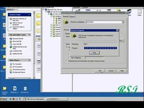 HOW TO RESTORE BAK FILE IN SQL SERVER 2000