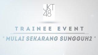 "Yuk simak cuplikan penampilan Trainee Generasi 3 Team Merah & Team Putih dalam event berjudul ""Mulai Sekarang Sungguh2"" Part 1 yang telah diadakan di JKT48 Theater.  ***  Keep on cheering for us and thank you for all of your support.  Follow our twitter @officialJKT48  or visit our Facebook Fan page http://www.facebook.com/official.JKT48  also visit our official website http://www.jkt48.com"