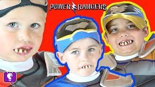 GROSS TEETH-POWER RANGERS FIGHT GERMS! Surprise Toy Reviews + Children FAMILY FUN HobbyKidsTV