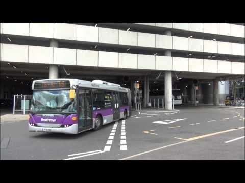 Buses at London Heathrow Airport