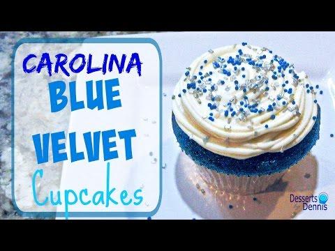 Carolina Blue Velvet Cupcakes--SuperBowl 50!