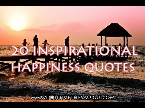 Positive quotes series: Happiness Quotes (photo slideshow video)