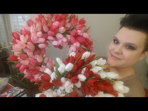 DIY Tulip Wreath - Valentines, Easter, Spring, Mothers Day