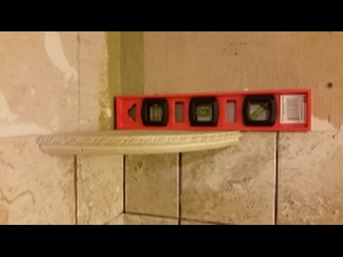 How to install corner shelf on shower wall -  Part 2 -D.I.Y