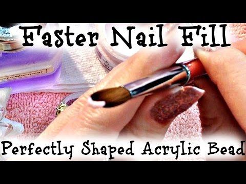 Acrylic Nail Fill Tutorial: Apply Acrylic in Under 5 Min with Perfect Shaped Bead of Acrylic