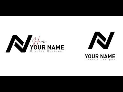 Letter N Logo Designs SpeedArt