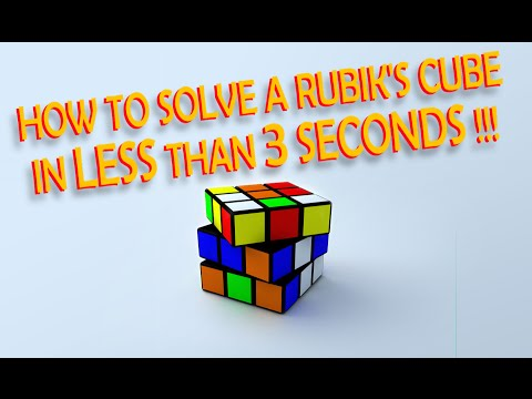 How To Solve A Rubik's Cube In LESS THAN 3 Seconds !! **THE ORIGINAL**