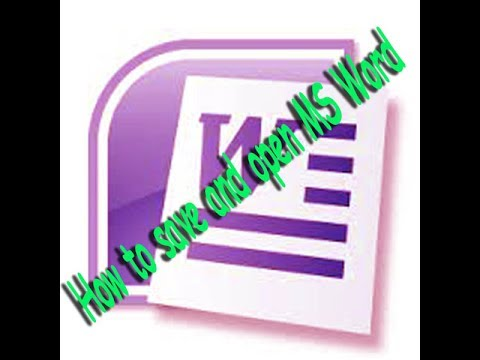 How to save and open MS Word|| My Home Teacher