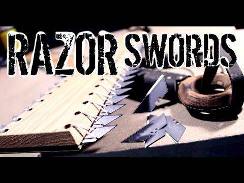 How to Make: RAZOR SWORDS (Aztec Maquahuitl and Hawaiian Leiomano Inspired)