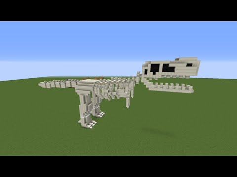 How to Build a Dinosaur Skeleton in Minecraft 1.10