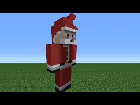 Minecraft Tutorial: How To Make A Santa Statue