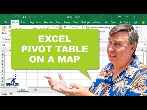 Learn Excel - Pivot Table on a Map - Podcast 2038