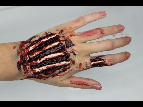 EXPOSED HAND BONES!! Easy SFX Halloween Tutorial