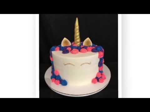 Como acer el cuerno y orejas para pastel de unicornio ( ears and horn for a unicorn cake)