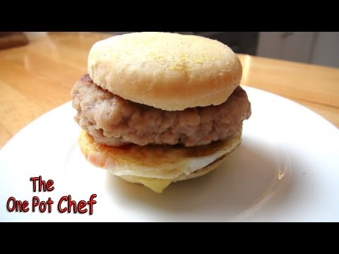 Home Made Sausage and Egg McMuffins | One Pot Chef