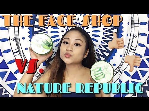 Nature Republic vs The Face Shop Aloe Vera Soothing Gel Review l Dorothy Torretijo