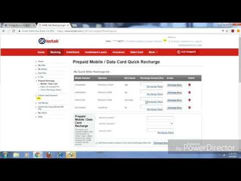 Kotak Mahindra Bank की Internet Banking Site से Bill Payment or Mobile/DTH Recharge कैेसे करें
