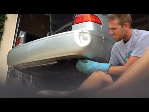 How to remove a dent from your bumper with hot water
