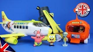 Spongebob Squarepants Plane & Bikini Bottom Submarine Bus Playset Episode with Duplo & Peppa Pig