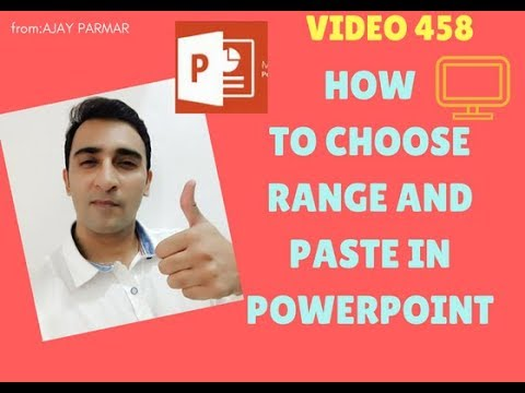 Learn MS Excel -Video 458-  VBA Choose the range and paste in powerpoint