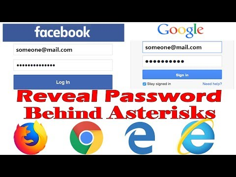 How to Show Hidden Password behind Asterisks In Crome Firefox Edge and Internet Explorer