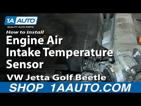 How To Install Replace Engine Air Intake Temperature Sensor 1.8T VW Jetta Golf Beetle