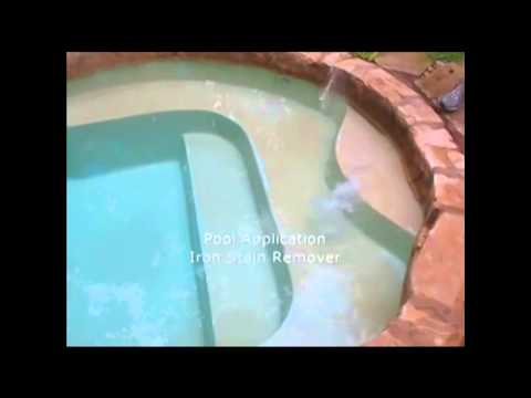 Remove swimming pool metal stains for good!