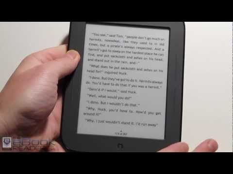 Nook Touch with Firmware Update 1.1 - Speed Boost and Darker Fonts