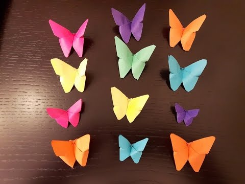 How to make a Paper butterfly? (Origami)