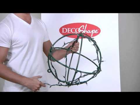 Christmas Light Balls made easy with DecoShape Light Globes
