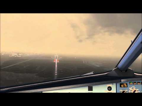 [FSX HD] Cloudy day go around and landing in Venice Marco Polo Airport