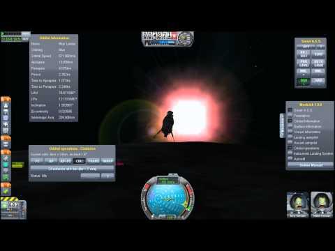 Rescuing An Astronaut In Munar Orbit - Kerbal Space Program