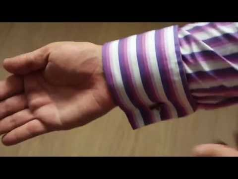How to use cufflinks on a double cuff shirt