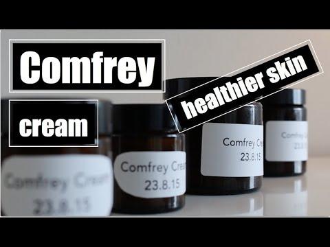 Natural herbal comfrey homemade skin cream recipe