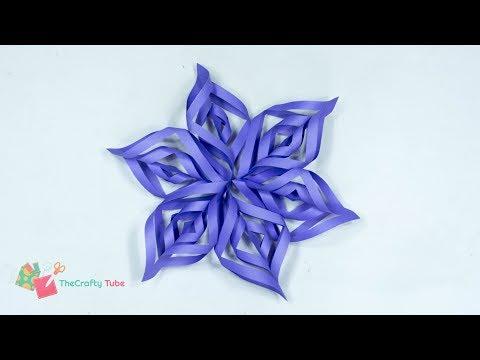 Snowflake Christmas Star -  How to Make A Beautiful Snowflake Christmas Star Christmas