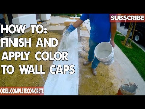 How to Finish and Apply Color for Concrete Wall Caps (Detailed)