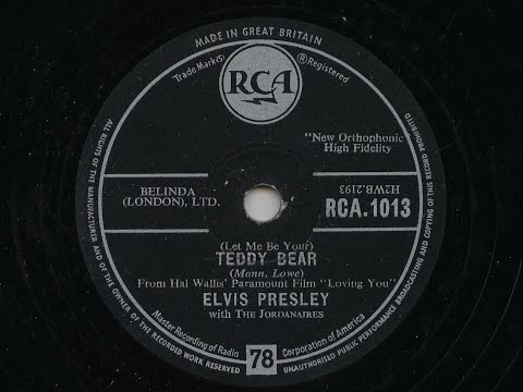 Elvis Presley  '(Let Me Be Your) Teddy Bear' 78 rpm
