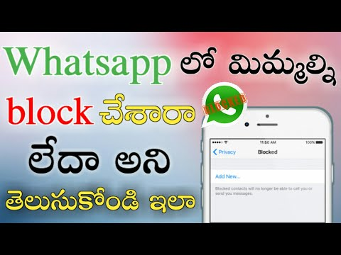 How to know if someone has blocked you on WhatsApp | in telugu |Thunder cloud factory