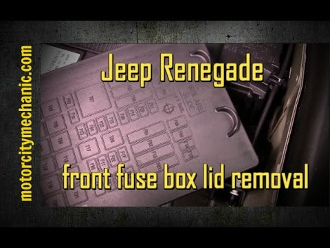 2015 Jeep Renegade front fuse box lid removal