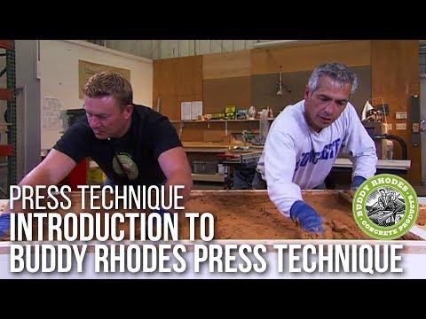 Intro to Buddy Rhodes' Press Technique for Concrete Countertops
