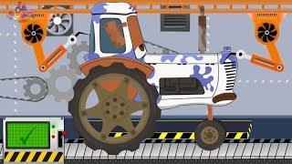 Tractor Milk Chocolate | Toy Factory | Video For Children | Traktor Czekolada Milka z Fabryki