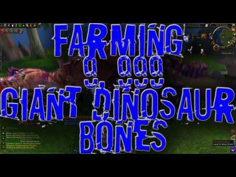 Loot From Farming 9, 999 Giant Dinosaur Bones [7-9K Gold/Hour]