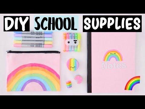 DIY Rainbow School Supplies & Hacks EVERYONE Should Know!