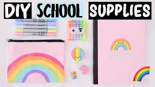 DIY Rainbow School Supplies & Hacks EVERYONE Should Know!