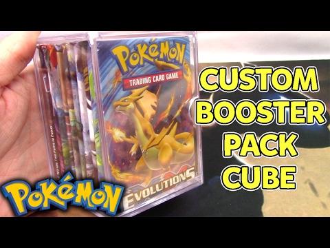 Custom Pokemon Cube! 10 Assorted Pokemon Card Booster Packs
