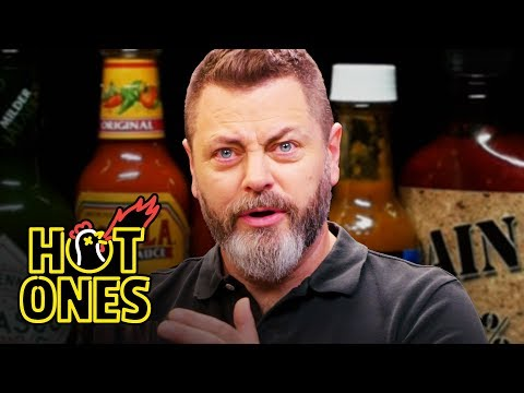 Xxx Mp4 Nick Offerman Gets The Job Done While Eating Spicy Wings Hot Ones 3gp Sex