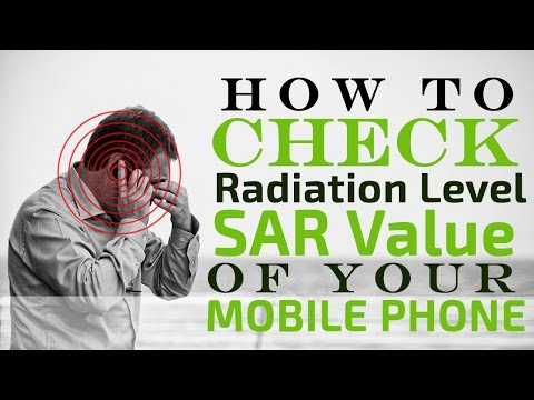 How to Check Radiation Level or SAR Value of  your Mobile phone / Smartphone.