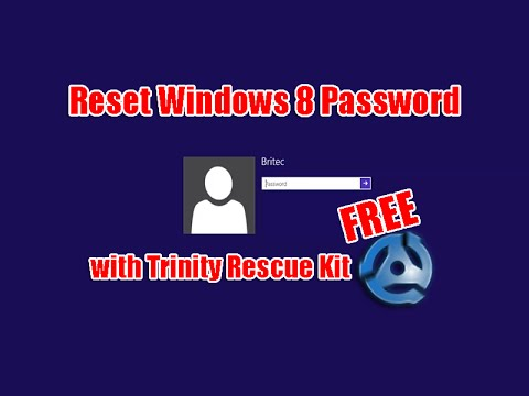 Reset Windows 8 Password with Trinity Rescue Kit
